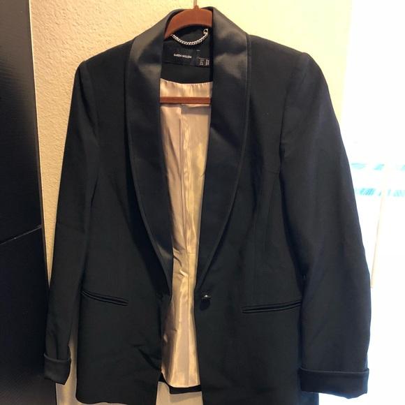 Karen Mullen tuxedo jacket w/ satin lapels